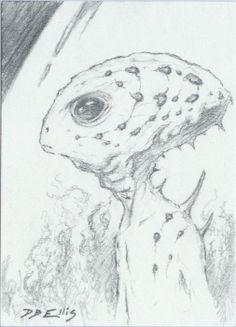 GUILD NAVIGATOR NO 4 original sci fi art, ACEO, Frank Herberts Dune