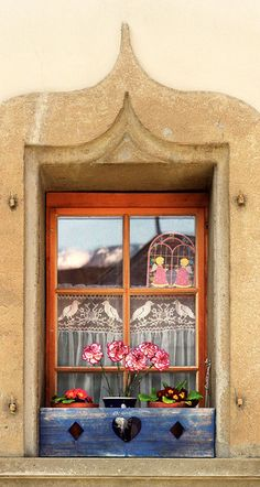 Swiss Windowbox- Gruyeres, Switzerland by Dennis Barloga