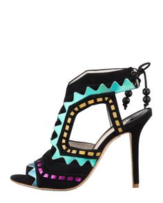 PACK - Shoes reminiscent of the Las Vegas Strip. These are Sophia Webster. 212 872 8941
