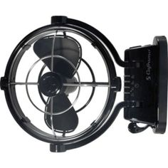 Caframo Sirocco 807 24V 3-Speed 7 Gimbal Fan - Black