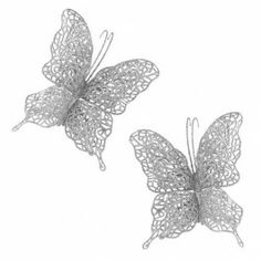 Amazing Value Christmas Decorations in a range of designs and sizes! Perfect for your Christmas Tree or to decorate a room at home. These beautiful silver butterflies will complete that silver and white Christmas tree.