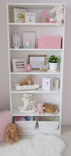 Our Neutral Baby Nursery Could This Bookshelf Styling Be Any More Perfect Loving The Elements Of Natural Wood With