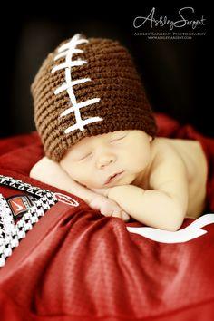 newborn Alabama football Ashley Sargent Photography  www.ashleysargent.com