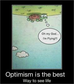 Bekijk het van de positieve kant!