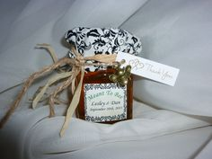 Created this little honey jar favor for my daughters wedding.
