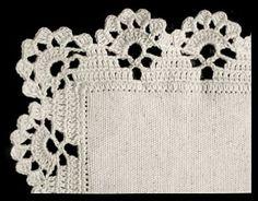 Filomena Crochet and Other Han Crochet Edging Patterns, Crochet Lace Edging, Crochet Borders, Crochet Designs, Crochet Doilies, Tunisian Crochet, Filet Crochet, Learn To Crochet, Crochet Stitches