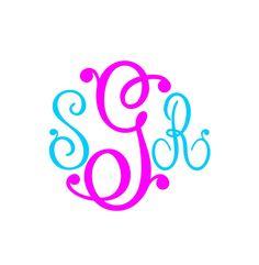 Monogram SVG  Font by inkminta on Etsy