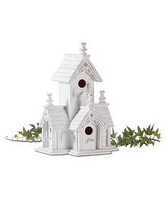 White Victorian Birdhouse