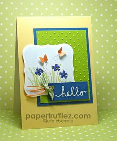 Mini Flower Hello by Julie HRR, via Flickr