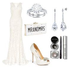 """""""Wedded On the Weekend"""" by kandilover2003 ❤ liked on Polyvore featuring Phase Eight, Badgley Mischka, BERRICLE, Kate Spade and Bobbi Brown Cosmetics"""