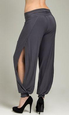 Open Sides Charcoal Pants - FINAL SALE