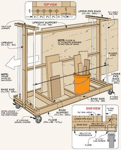 Sheet Goods Cart Example Drawing