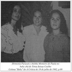 """Dirmenia Paracat, Aninha Monteiro de Paula e Tônia Seixas Coelho. Coluna """"Baby"""" do A Crítica de 19 de julho de 1982."""