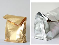 When I saw this cheap, faux metallic leather that looked more like the foil they wrap your take-out dinner in I knew it was time to make som...