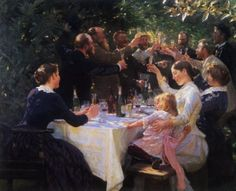 Hip Hip Hurrah Artists Party at Skagen by Peder Severin Kroyer Skagen, Hip Hip, 7 Arts, William Turner, Stavanger, Pierre Auguste Renoir, Oil Painting Reproductions, Mondrian, Michelangelo