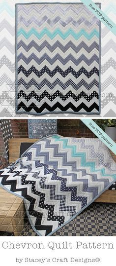 FREE Chevron Quilt PDF Pattern by Staceys Craft Designs