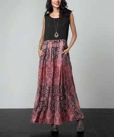 This Pink Paisley Tank Maxi Dress is perfect! #zulilyfinds