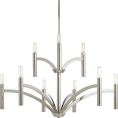 Progress Lighting P4719-104 Draper 9-light 2-tier Chandelier
