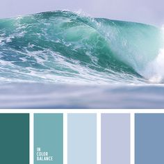 Beautiful, fresh palette with clean cool shades. Made in the same key, it invigorates, tones and gives strength and energy. Aqua, blue look great in the interior bathroom, living room, office. The soft, translucent colors will help visually expand a small room even.