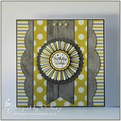 Crafting with Cotnob,  Card Kit, Die-namics Fishtail Flags, Simon Says Stamp, Spellbinders, Tim Holtz Paper Rosette Die