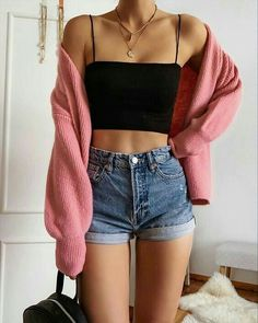 Trendy Summer Outfits, Cute Comfy Outfits, Simple Outfits, Stylish Outfits, Casual Summer, Short Outfits, Classy Outfits, Teen Fashion Outfits, Look Fashion