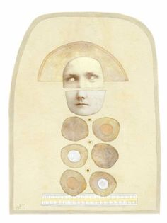 "Saatchi Art Artist Athena Petra Tasiopoulos; Collage, ""Breast"" #art"