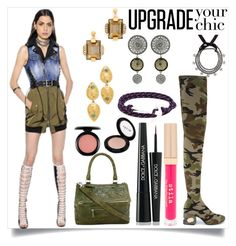 """""""Upgrade your chic"""" by camry-brynn ❤ liked on Polyvore featuring Dsquared2, MM6 Maison Margiela, Marni, Lizzie Fortunato, Liase, Givenchy, Ellen Conde, MIANSAI, Stila and Dolce&Gabbana"""