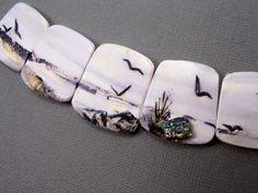 Handmade Polymer Clay Statement Focal 5 Bead Set by StudioStJames