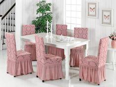 Bu şık sandalye örtüleri ile yemek masanızaın etrafında zarif sandalyelere yer açmak ister misiniz?  Satın almak için bize ulaşınız. #sandalye #chair #mutfak #dekorasyon Dining Chairs, Dining Table, Furniture, Home Decor, Decoration Home, Room Decor, Dinner Table, Dining Chair, Home Furnishings