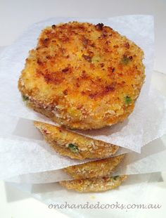 one handed cooks: baby & toddler food: vegetable rice cakes