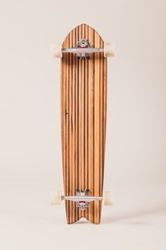 Longboard out of carefully selected reclaimed wood. For downhill action or beach cruising. The Selection, Action, Wood, Beach, Sustainable Gifts, Christmas 2016, Sustainability, Group Action, Woodwind Instrument