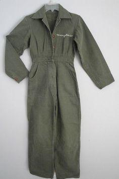 Vintage 1940s 40s Women's Coveralls Rosie the Riveter Hot Rod Girl WWII Era Sz.S | eBay