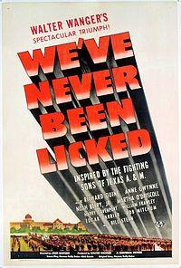 We've Never Been Licked - 1943