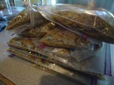 Heavenly Homemakers make-ahead freezer meal list