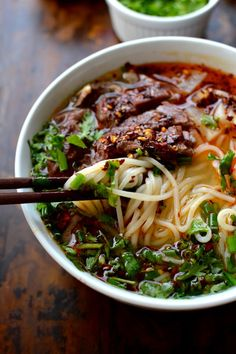 Lanzhou Beef Noodle Soup A flavorful broth shaved beef tender radishes herbs chili oil and chewy noodles Asian Recipes, Beef Recipes, Cooking Recipes, Healthy Recipes, Ethnic Recipes, Fast Recipes, Healthy Food, Indonesian Recipes, Asian Desserts