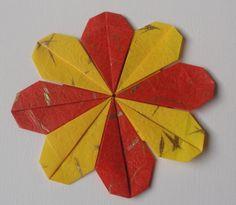 Mandala - composição com módulos em Origami