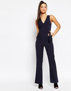 Missguided | Missguided Sleeveless D Ring Jumpsuit at ASOS