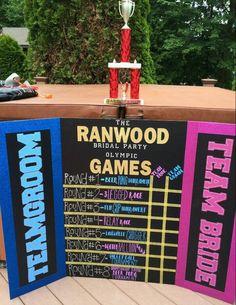 Bridal party Olympics scoreboard!