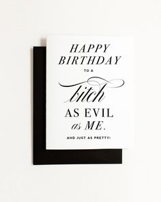 Best Friend Birthday Card - Funny, Witty, and Rude Greeting Card for your BFF Bestie! Kitty Meow: A Creative Boutique - shop beautifully designed, witty or sweet paper goods - Tradeshow Bootcamp Alum Birthday Message For Bestfriend, Best Friend Birthday Cards, Birthday Card Messages, Cool Birthday Cards, Birthday Card Sayings, Birthday Wishes Quotes, Birthday Card Design, Birthday Cards For Women, Birthday Greeting Cards