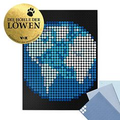 "dot on Erde Poster - 30 x 40 cm Bekannt Aus""Die Höhle Der Löwen"" dot on art Diy Kleb Dir Dein Eigenes Kunstwerk Earth Diagram, Chart, Invitations, Feelings, Poster, Gifts, Ideas, View Tv, Lion's Den"