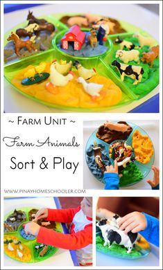 farm learning and play Play Therapy Activities, Playdough Activities, Farm Activities, Preschool Activities, Farm Animals Preschool, Preschool Centers, Animals For Kids, Farm Theme Crafts, Farmer Duck
