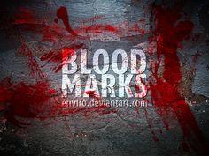 Blood Marks brushes by env1ro.deviantart.com on @DeviantArt