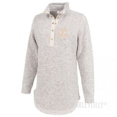 Monogrammed Heathered Pullover Tunic