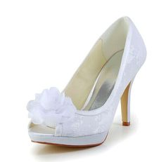 "Graceful Women's Peep Toe Wedding Shoes With Flower and Lace Design Color: WHITE, BEIGE Size: 34, 35, 36, 37, 38, 39, 40, 41, 42 Category: Wedding & Events > Wedding Shoes   Gender: Women  Pumps Type: Basic  Toe Style: Open Toe  Toe Shape: Peep Toe  Shoe Width: Medium(B/M)  Heel Type: Stiletto Heel  Heel Height Range: High(3-3.99"")  Embellishment: Flowers  Occasion: Wedding  Upper Material: Lace  Lining Material: PU    #laceweddingshoescheap #laceshoes #weddingshoes #cheapshoes #bridgat.com"