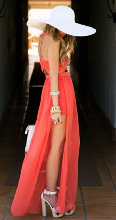 Kentucky derby maxi dress