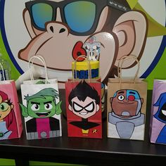 Recy added a photo of their purchase Teen Titans Characters, Barnyard Party, Party Pops, Teen Titans Go, Party Favor Bags, Unicorn Birthday Parties, Projects To Try, Handmade Gifts, Paper