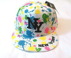 b3280f1c195 New Hot Hip Hop Boys   Girls NY Splash Designer Snapback Flat Hat Baseball  Cap