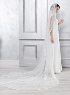 Cathedral length veil for the most dramatic and romantic wedding! (4052 200x300 cm)