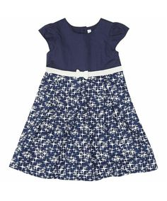 Take a look at this Navy Stars Party A-Line Dress - Infant, Toddler & Girls on zulily today!