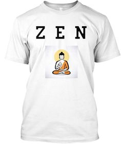 Z E N White T-Shirt Front Cool Stuff, T Shirt, Tops, Fashion, Supreme T Shirt, Moda, Tee, Fashion Styles, T Shirts